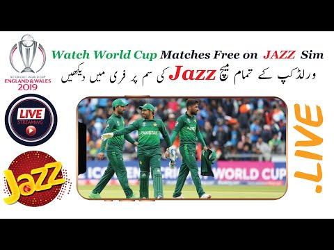 How To Watch FREE Live World Cup Matches  On Jazz Sim (PTV SPORTS) | Live World Cup Match On Mobile