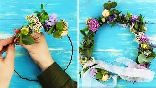 22 ADORABLE FLOWER CRAFTS AND HACKS