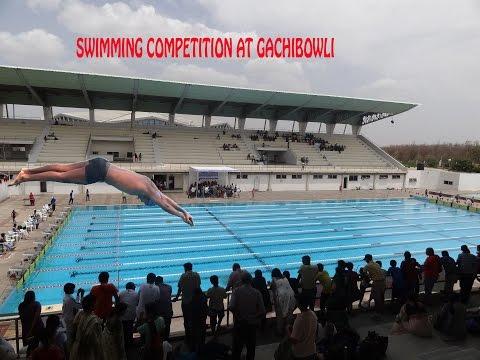 Swimming competition at gachibowli stadium hyderabad