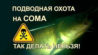 Подводная охота на СОМА Так делать нельзя