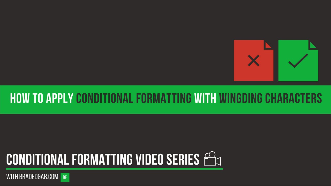 How To Apply Excel Conditional Formatting With Wingding Characters To Help  Visualize Your Data