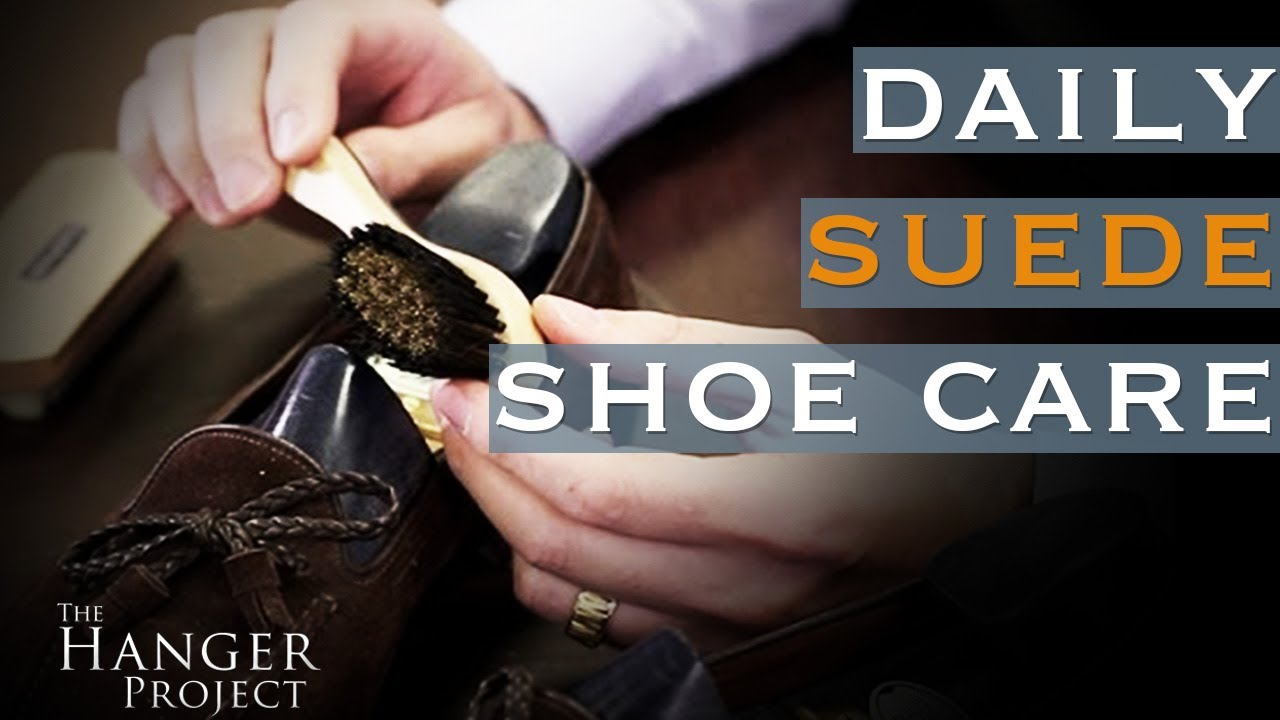 Daily Suede Shoe Care How To Use A Cleaning Brush