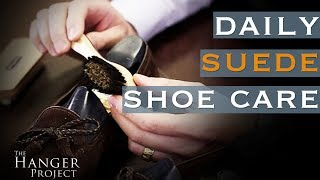 Daily Suede Shoe Care: How to Use a Suede Cleaning Brush