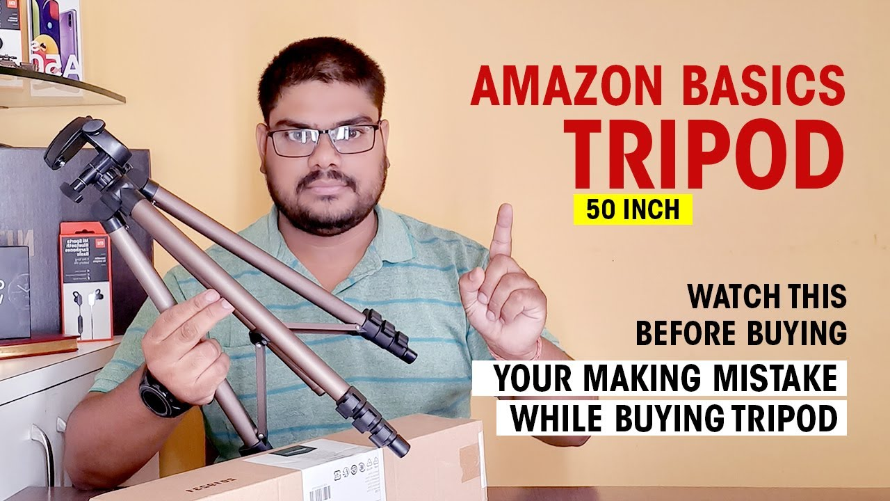 Amazonbasics 50-inch Lightweight Tripod With Bag Unboxing, Review and Truth | Hindi - HashTag India