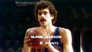Phil Jackson 9pts 4reb 1blk (Knicks at Bullets 3.4.1973 Full Highlights)