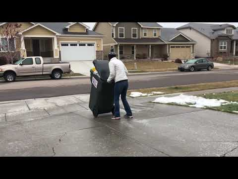 Woody's World - WATCH: Woman Slides Down Icy Driveway to Take Out Trash