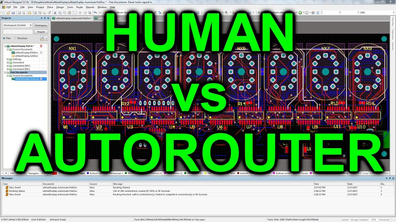 EEVblog #975 - Human vs Autorouter - YouTube