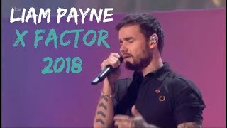 LIAM PAYNE, JONAS BLUE & LENNON STELLA PERFORMING POLAROID AT THE X FACTOR 2018