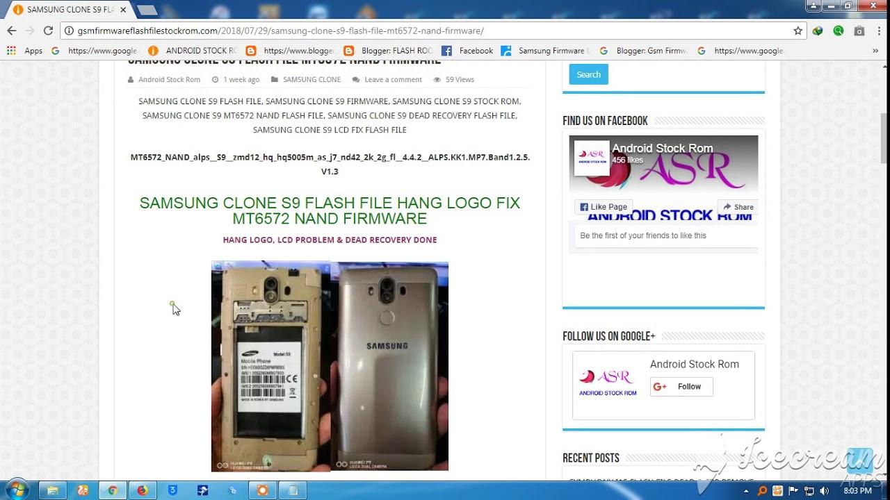 SAMSUNG CLONE S9 FLASH FILE MT6572 NAND FIRMWARE