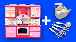 DIY Barbie Miniature  Kitchen set. Dollhouse Crafts