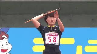 第98回日本陸上競技選手権大会 女子 やり投 決勝 8位