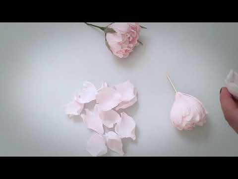 How to make a PEONY FLOWER with crepe paper ?