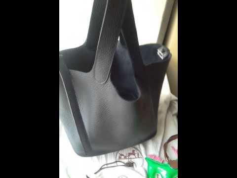 Hermes Picotin Lock bag MM Black Clemence leather Silver hardware ...