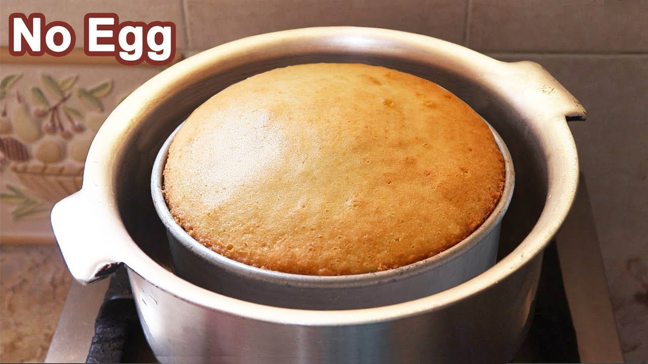 Eggless Tea Cake without Oven - No Oven-No Butter-No Egg Plain Cake Recipe