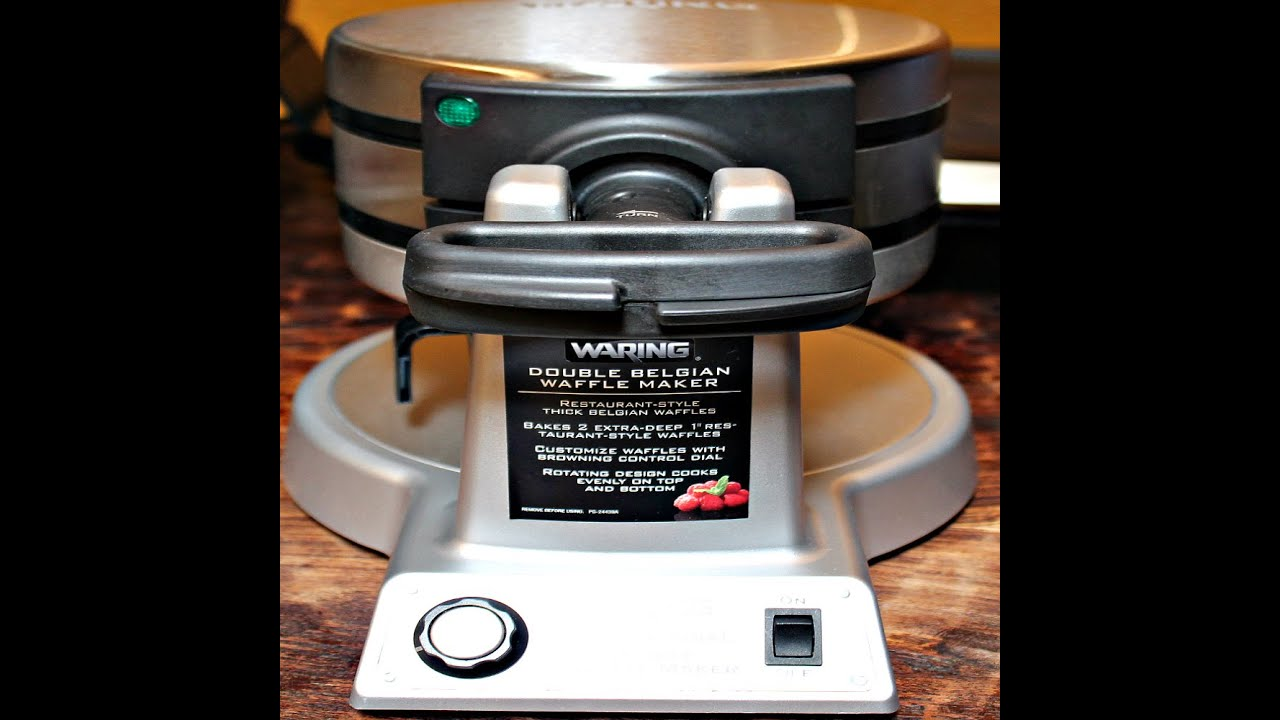 waring double belgian waffle maker first impressions and review - Waring Pro Waffle Maker