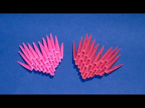 Самое легкое модульное оригами сердечко для начинающих