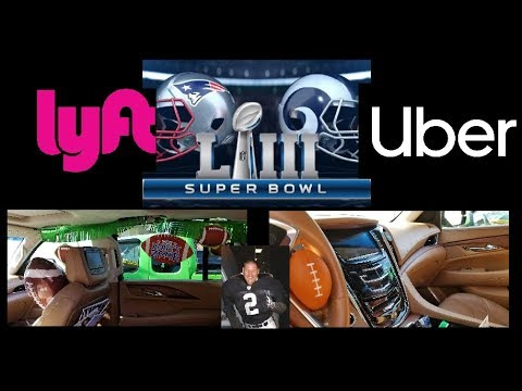 Super Bowl LIII, Los Angeles Rams vs. Patriots. Score an Uber and Lyft touchdown. #Superbowl