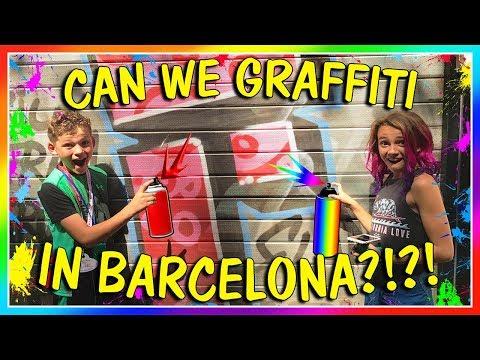 DOING GRAFFITI IN BARCELONA? | We Are The Davises