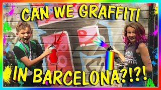 It's day 2 of our trip to Barcelona, Spain. There is so much graffi...