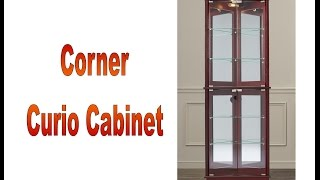 Corner curio cabinet features