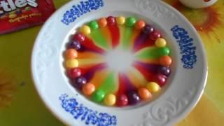 8. УРА... У нас 200 ПОДПИСЧИКОВ... Решили сделать радугу из Skittles...