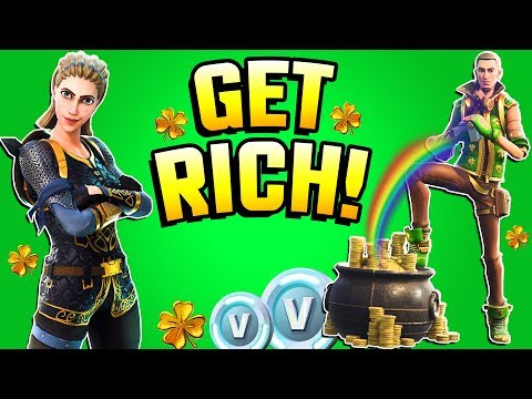 Fortnite - GET RICH! All Rewards, Free V BUCKS, LEGENDARY HERO, Guide - LUCK OF THE STORM!