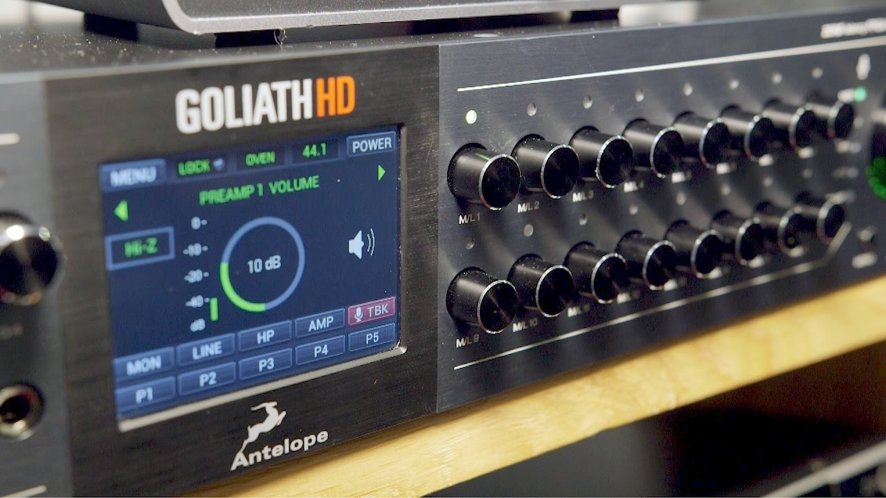 Antelope Audio Goliath HD - Musikmesse 2017 - YouTube