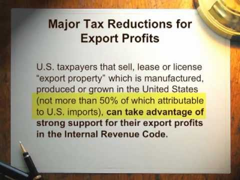 The IC-DISC - The United States Tax Benefits of Exporting