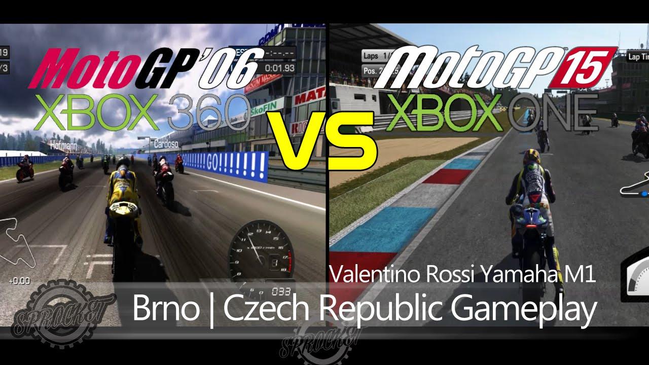 MotoGP 06 VS MotoGP 15 Gameplay Race Rossi at Brno MotoGP 2015 - YouTube