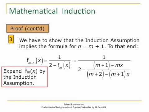 problem induction Solved problems on principle of mathematical induction are shown here to prove mathematical induction.