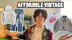 How To Shop Vintage ONLINE! Affordable Vintage Streetwear