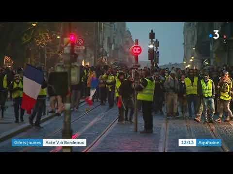 Bordeaux au lendemain de l'Acte V des gilets jaunes