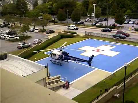 helicopter landing at Atlanta Medical Center