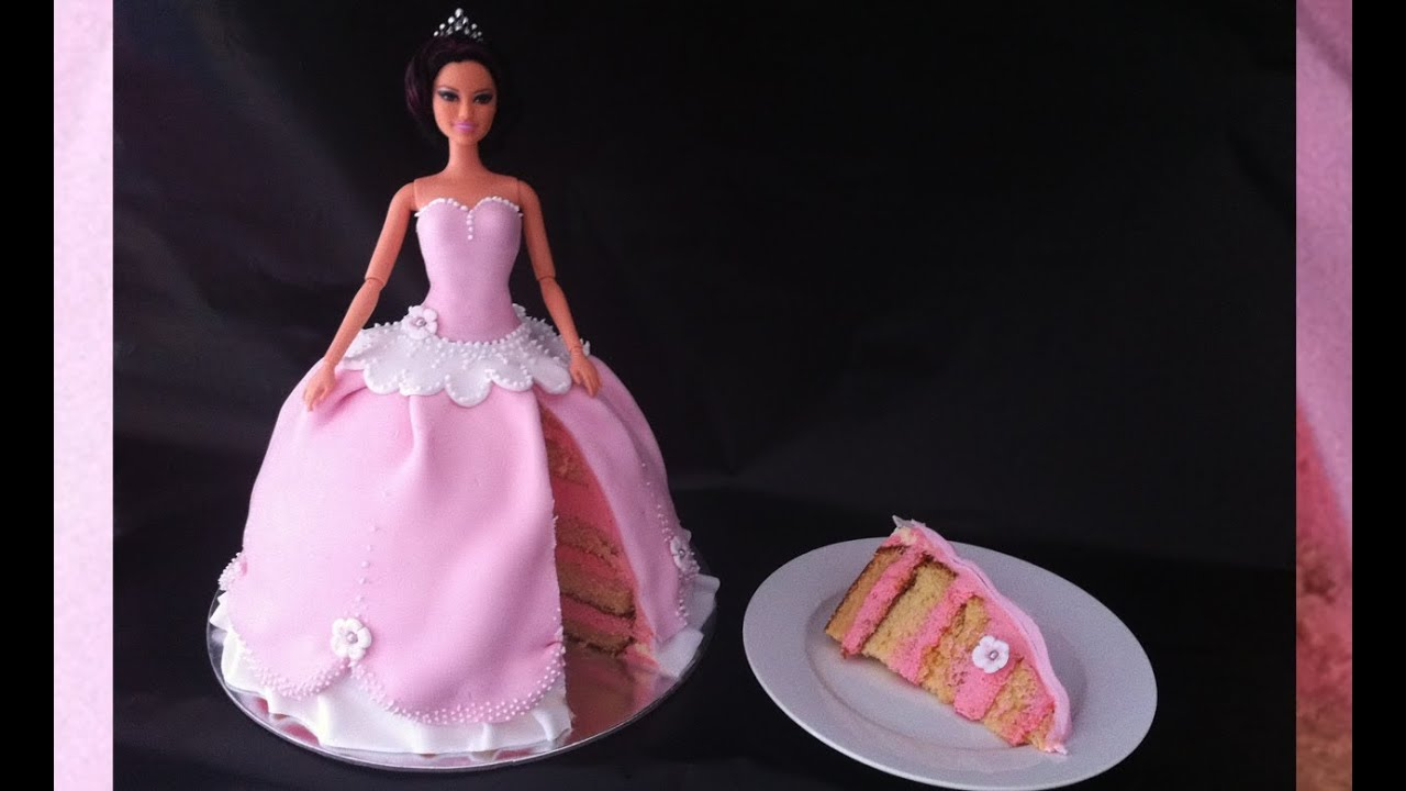Make A Barbie Birthday Cake