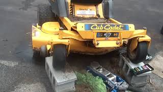 Cub Cadet RZT50 Zero Turn, Mower spindle replacement,