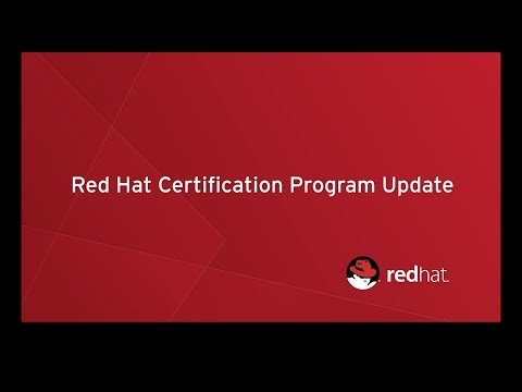 Red Hat Certification Program Update