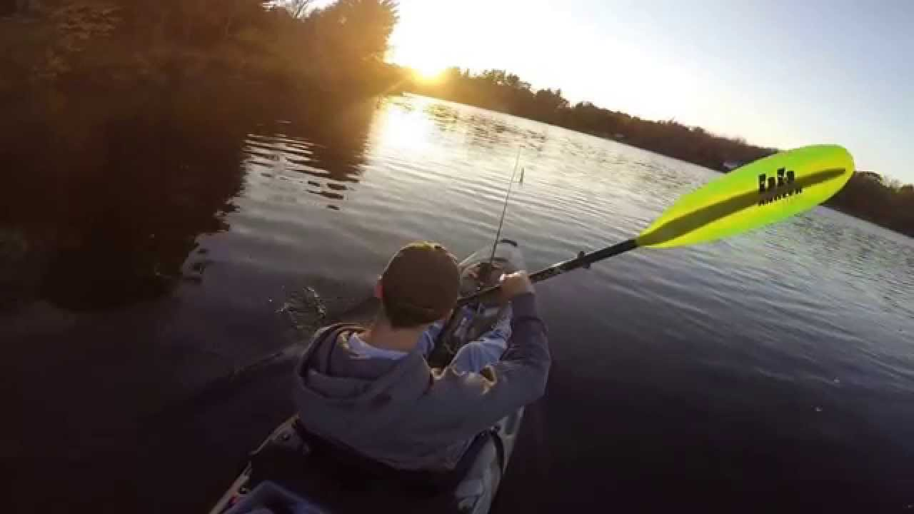 Kayak bass fishing in ct fall 2014 highlights youtube for Bass fishing in ct