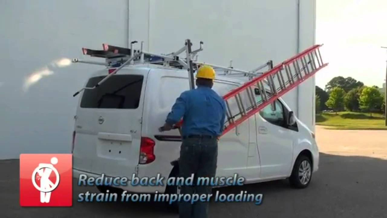 american van equipment side access rotation ladder rack nissan nv200
