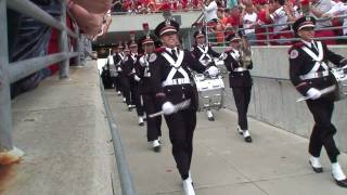 The Ohio State University Marching Band doing Script Ohio!