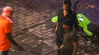 Kaala's Intense Fight Scene & Rajinikanth's Mass Look!|From the Sets of KAALA | TK 167
