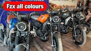 Yamaha Fz-X 150 All Colours Walkaround Review 😍😍 || Black, Blue & Orange || On Road Price ?