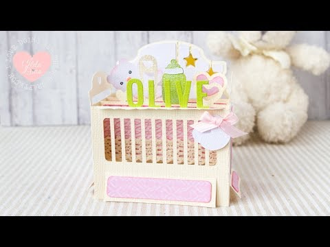 Olive's Baby Crib Box Card + How my Paper Crafting Journey Began