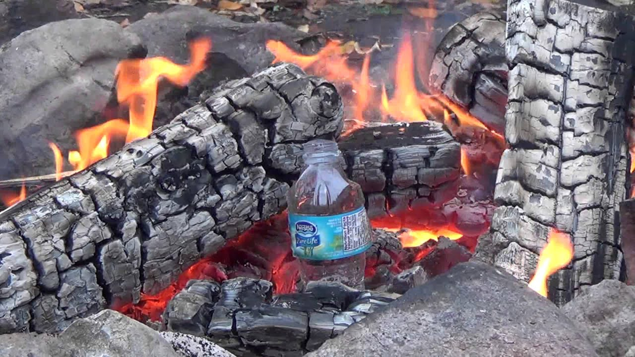 Image result for water bottle fire
