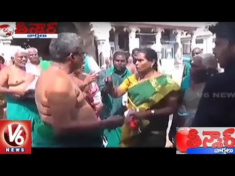 Chennai Woman BJP Leader Slaps Farmer | Teenmaar News | V6 News
