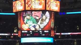 EXTENDED- Benny the Bull saves the day on this Epic Kiss Cam   1/3/15 Bulls vs Celtics