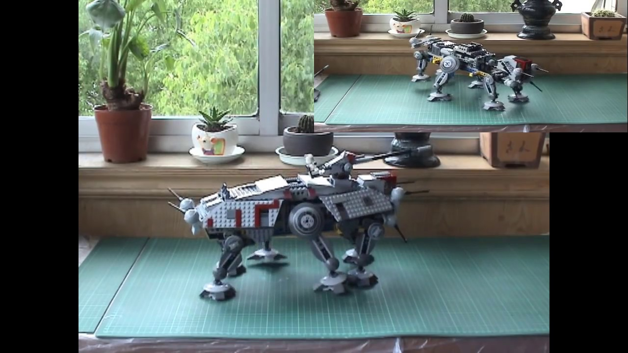 Lego Star Wars At Te Motorized Youtube