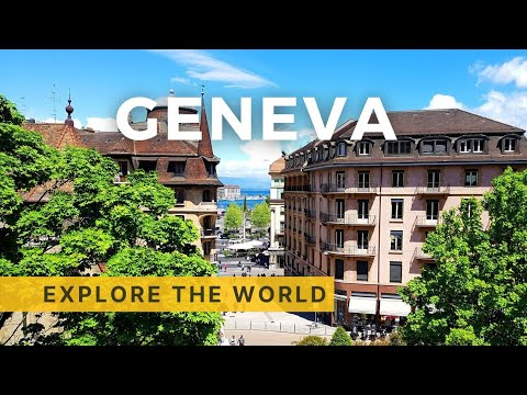 Walking in GENEVA 4K, Switzerland