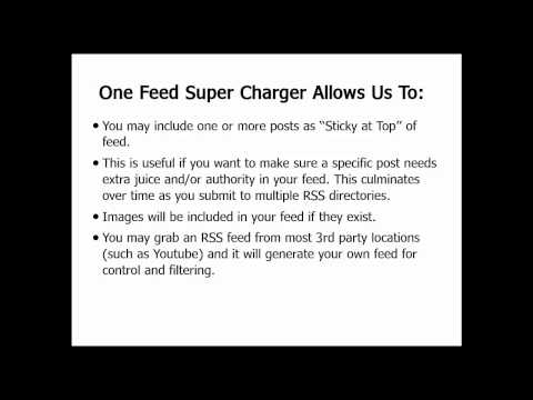 WP One Feed RSS Supercharger Plugin