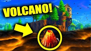 I Glitched Under To SEARCH For VOLCANO in Loot Lake! (Fortnite)