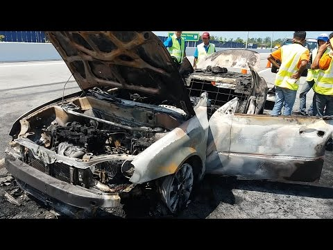 Two dead in burnt taxi on second Penang bridge